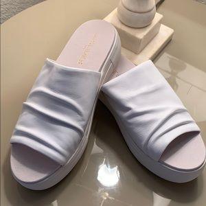 NEW Anthropologie J/Slides NYC White Leather Slide